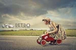 driving instructor retro driving school
